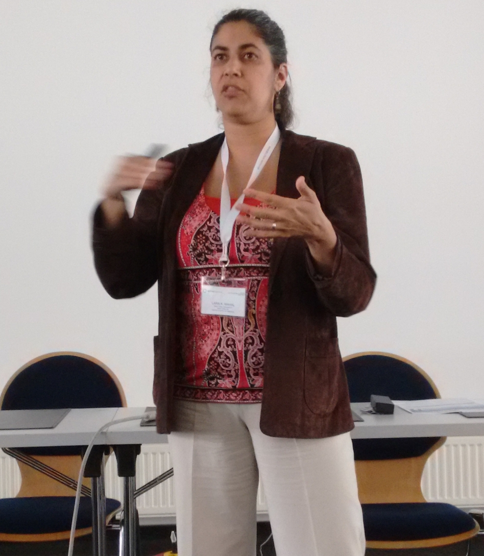 Lara Mahal giving her talk